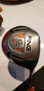 Driver Ping G10 stiff droitier 9° fat grip