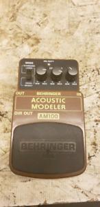 Acoustic modeler pedal