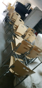 All one money !22 pine wood color chairs set lot .save