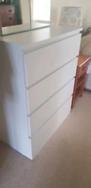 Ikea white chestdrawers