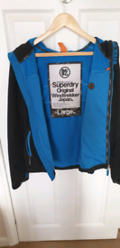 Genuine Superdry JPN mans Windcheater jacket with hood size L.