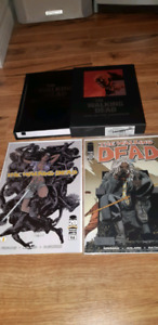 The Walking Dead comics and signed and serial number hardcover