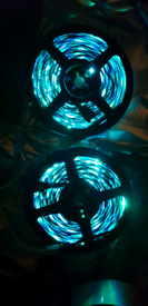 Led Tape Light, 15m, RGB with many lighting modes, NEW