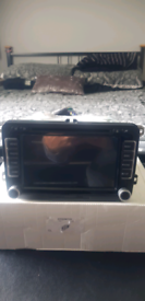 Double din stereo with sat nav