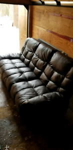 Leather like reclining couch