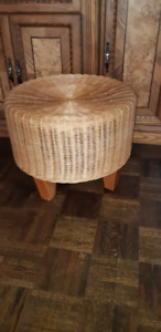 """Beautiful wicker chair 15"""" tall and 19"""" in diameter"""