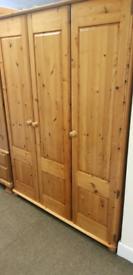 Triple pine wardrobe very good condition