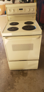 "24"" Frigidaire Almond Stove - Excellent Condition"