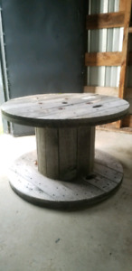 Wooden wire spool 2ft tall