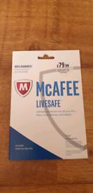 Mcafee livesafe antivirus security 1y