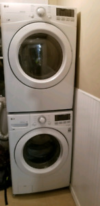 5 month old LG washer dryer combo with 10 year warranty