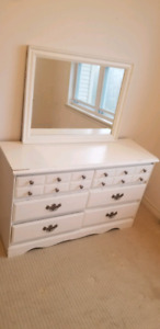 Dresser mirror and single headboard for sale