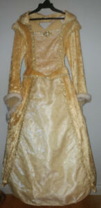 Costume halloween - Robe de princesse à crinoline 7/8 ans