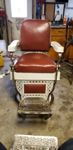 Red Chicago Made  Barber Chair