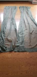 Custom Made Green Sheer Curtains