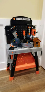 Black & Decker work bench plus Power Drill and Power Chainsaw