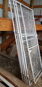 Custom welded mesh doors