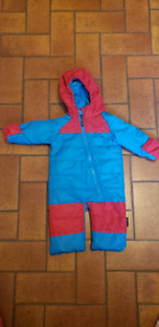 One piece snow suit and fleece suits for baby
