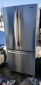 Working Samsung French 3 Door Refrigerator