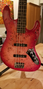 Burl Top Jazz bass active WOWW! !!!! !!!
