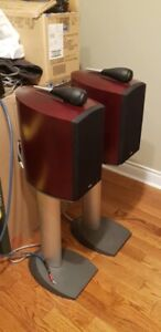 Pair of B&W NAUTILUS 805 Speakers with B&W matching stands