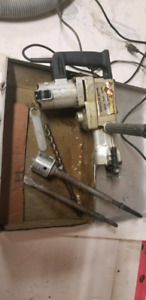 Hammer rotary chisel drill