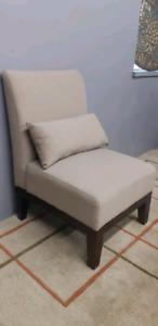 Fabric armless chair