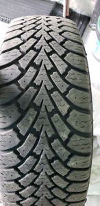 Set 4 of 215/55/17 Goodyear Nordic Winter tires with rim