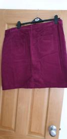 Purple cord skirt size 16