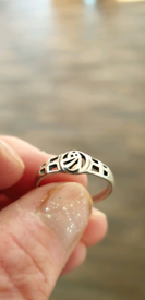925 silver Celtic style ring