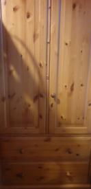 Large, solid pine wardrobe