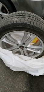 CADILAC RIMS ON MICHELIN WITNER TIRES (225 40 18)  **4**