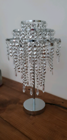 Silver Crystal Table Lamp