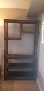 Solid Bamboo Wall Unit