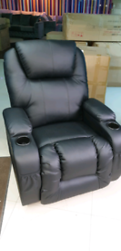 Black Electric Recliner Armchair free local delivery