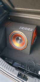 Car Subwoofer 750 watts max (with required cables)