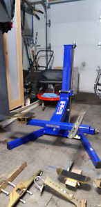 Big Blue Motorcycle Lift