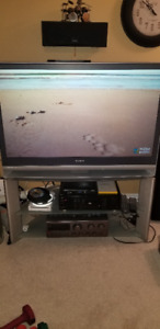 """42 """" Sony Rear Projection TV and Stand."""