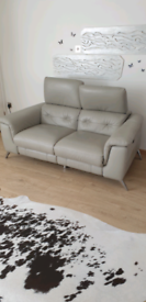 Harveys reclining leather sofa