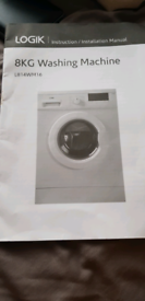 logic washing machine only used for 2 months like new
