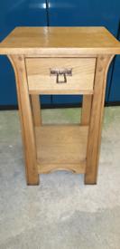 Oak hall table