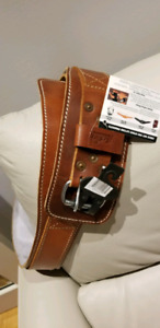 Leather support belt