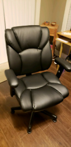 Leather Desk Chair (Adjustable Height)