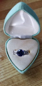 Tanzanite and Sterling Silver Ring - Brand New