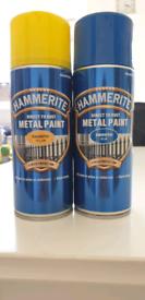 Hammerite Metal Paint (Blue & Yellow)