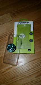 Lg g6 clear pure gear case with popper