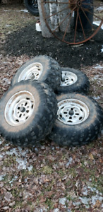 "25"" ATV tires and rims from Honda/Suzuki"