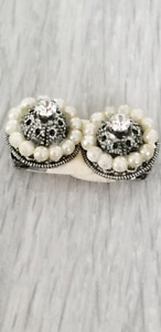 Vintage 1950s 1960s Crystal And Clip Earrings