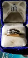 Mens 14kt Gold Ring W/1/4Ct Diamond.