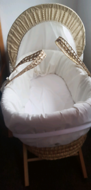 Clean Moses basket for baby